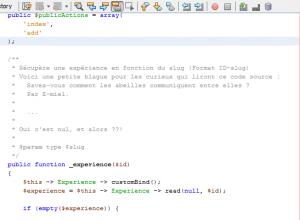 Les commentaires dans les codes sources PHP